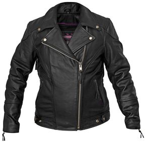Interstate Leather Classic Jacket - Reg, Black, hi-res