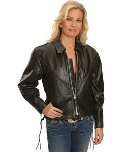 Interstate Leather Motorcycle Jacket, , hi-res