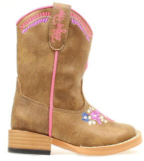 Blazin Roxx Toddler Girls' Sashay Embroidered Boots, Brown, hi-res
