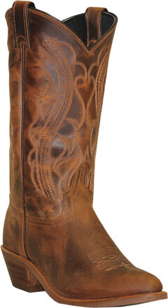 Abilene Sage Distressed Brown Cowboy Boots - Round Toe, , hi-res
