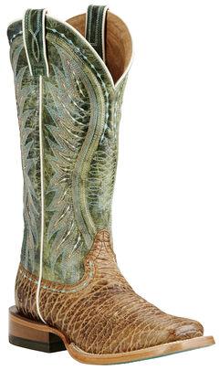 Ariat Women's Tan Vaquera Boots - Wide Square Toe, , hi-res