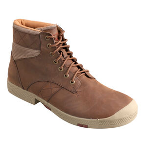 Twisted X Men's Casual Lace-Up Leather Shoes - Round Toe, Crazyhorse, hi-res