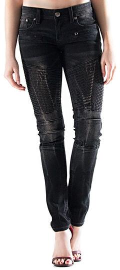 Grace in LA Women's Dark Wash Skinny Jeans , , hi-res