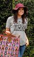 ATX Mafia Women's Grey Vacay Mode T-Shirt , Grey, hi-res