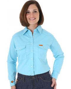 Wrangler Women's Flame-Resistant Long Sleeve Shirt, , hi-res