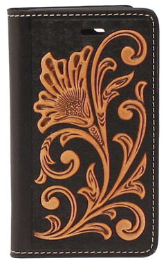 Nocona Leather Floral Scroll iPhone 5 and 5S Case Wallet, , hi-res