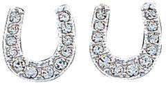 Montana Silvermsiths Rhinestone Encrusted Horseshoe Earrings, , hi-res