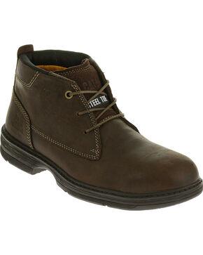 Caterpillar Men's Brown Inherit Mid Work Boots - Steel Toe , Brown, hi-res