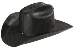 Stetson Stallion Bullock Black Straw Shapeable Cowboy Hat, , hi-res