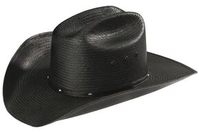 Stetson Stallion Bullock Black Straw Shapeable Cowboy Hat, Black, hi-res