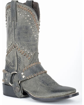Stetson Cheyenne Harness Cowgirl Boots - Square Toe, Black, hi-res