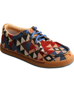 Hooey Lopers by Twisted X Youth Boys' Pattern Canvas Shoes - Moc Toe, , hi-res