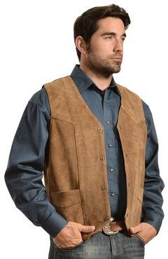 Liberty Wear Men's Suede Western Vest - Big, , hi-res