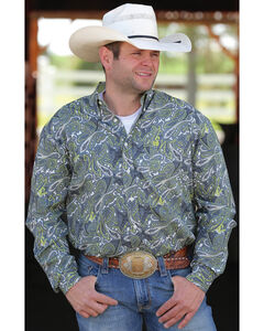 Cinch Men's Multi Long Sleeve Print Shirt , , hi-res