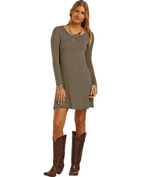 Panhandle Slim Women's Steel Knit Swing Dress , Steel, hi-res
