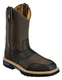 Cinch Brown Cordura H2O Waterproof Work Boots, , hi-res