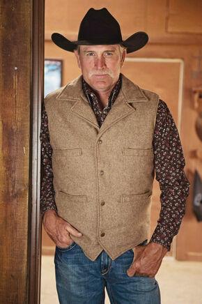 STS Ranchwear Men's Wool Ace Vest - 4XL, Brown, hi-res