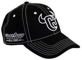Cowboy Hardware Horns Logo Flex Ballcap, Black, hi-res
