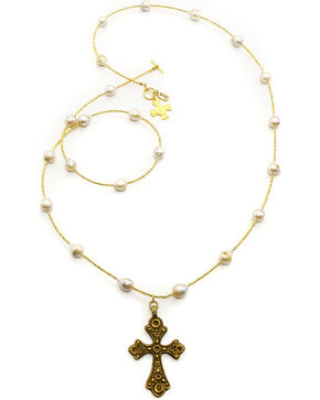 Julio Designs Doña Fortuna Specter Pearl Necklace, Pearl, hi-res