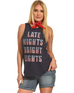 Shyanne Late Nights Bright Lights Embroidered Tank, , hi-res