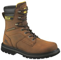 "Caterpillar 8"" Salvo Waterproof & Insulated Lace-Up Work Boots - Steel Toe, , hi-res"