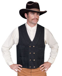 Rangewear by Scully Cotton Canvas Double Breasted Vest, , hi-res