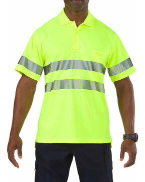5.11 Tactical High-Visibility Short Sleeve Polo Shirt, Yellow, hi-res