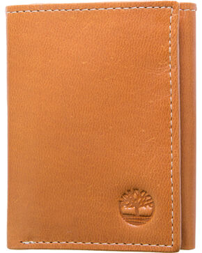 Timberland Men's Cloudy Leather Trifold Wallet , Tan, hi-res