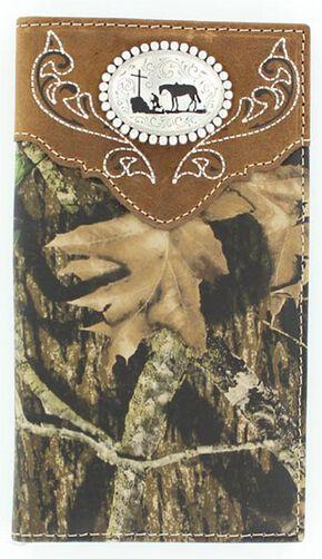 Nocona Camo Cowboy Prayer Concho Rodeo Wallet, Mossy Oak, hi-res