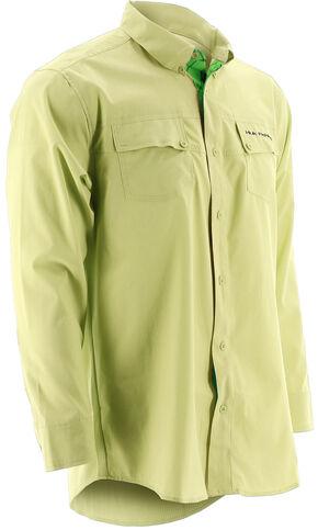 Huk Performance Fishing Men's Phenom Long Sleeve Shirt , Yellow, hi-res