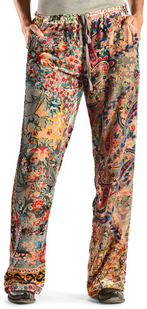 Johnny Was Women's Floral Collage Pants, Print, hi-res