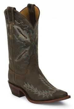 Justin Bent Rail Distressed Puma Cowgirl Boots - Snip Toe, , hi-res