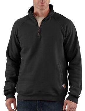 Carhartt Midweight Zip Mock Sweatshirt - Big & Tall, Black, hi-res