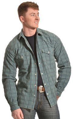 Ryan Michael Men's Dobby Plaid Shirt, , hi-res