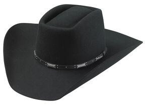 Tony Lama Brick Top Black 3X Wool Cowboy Hat, Black, hi-res