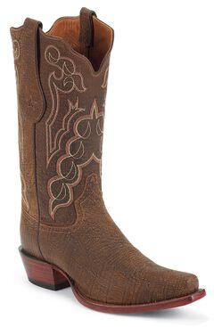 Tony Lama Signature Series Kangaroo Cowboy Boots - Square Toe, , hi-res