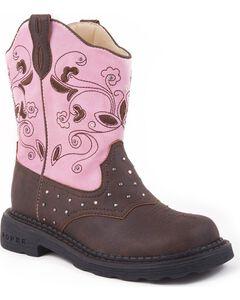 Roper Girls' Light Up Western Boots, , hi-res