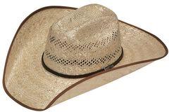 Twister 8X Shantung Maverick Bound Brim Straw Cowboy Hat, , hi-res