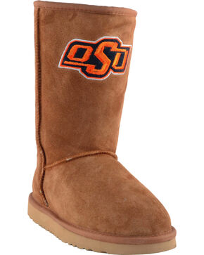 Gameday Boots Women's Oklahoma State University Lambskin Boots, Tan, hi-res