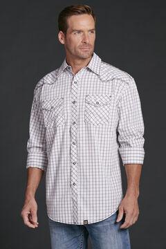 Cowboy Up Men's Plaid Snap Shirt, , hi-res
