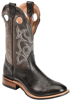 Boulet Grey Roper Cowboy Boots - Round Toe, , hi-res