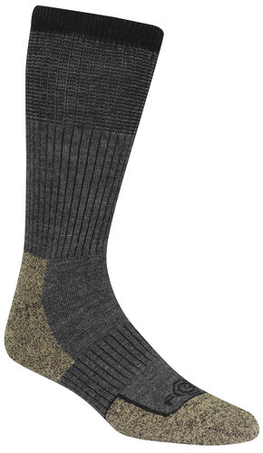 Carhartt Merino Wool Comfort-Stretch Steel Toe Socks, Charcoal Grey, hi-res