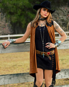 Tasha Polizzi Women's Cowgirl Shirt Dress, , hi-res