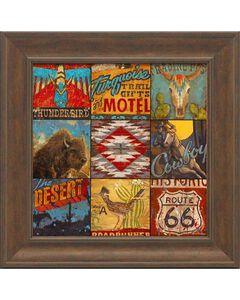 """Aaron Christensen """"Southwest Collage"""" Framed Art - 16"""" x 16"""", , hi-res"""