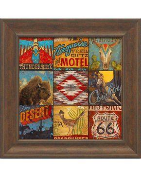 "Aaron Christensen ""Southwest Collage"" Framed Art - 16"" x 16"", Multi, hi-res"