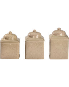 HiEnd Accents Savannah Taupe Canister Set, , hi-res