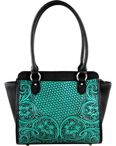 Montana West Turquoise Delila 100% Genuine Leather, , hi-res