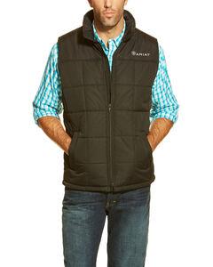 Ariat Men's Black Crius Quilted Vest, , hi-res