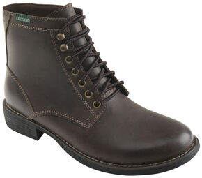Eastland Men's Brown Brent Plain Toe Boots, Brown, hi-res