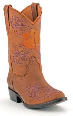 Gameday Boots Girls' Clemson University Western Boots - Medium Toe, , hi-res